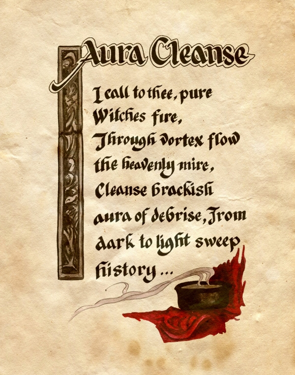 aura cleanse by Charmed from the Book of Shadows